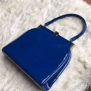Darling 1950's Era vintage blue clutch